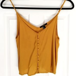 Forever 21 Mustard Yellow Cropped Tank Top
